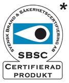 Test Seal of the Svensk Brand- och Säkerhetscertifiering AB - Stockholm, Sweden