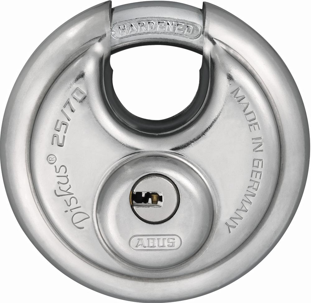 abus padlock 25 70 with five keys 32279. Black Bedroom Furniture Sets. Home Design Ideas