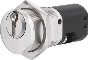 Key-operated switch cylinder Ø 24 mm, rebounded 356-ES2/456-ES2