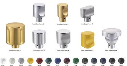 Knob shapes and finishes 50KNN...