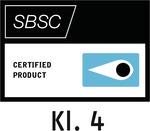 Logo d'agrément aux tests de résistance Svensk Brand- och Säkerhetscertifiering AB – Stockholm, Suède (SBSC)