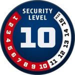 Niveau 10 ABUS GLOBAL PROTECTION STANDARD ® Plus le niveau est haut, meilleur est la sécurité