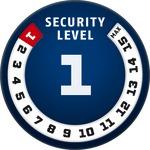 Рівень захисту 1/15 за шкалою ABUS Security Level