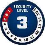 Рівень захисту 3/15 за шкалою ABUS Security Level