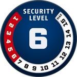 Level 6 |  ABUS GLOBAL PROTECTION STANDARD ® |  Ein höherer Level entspricht mehr Sicherheit
