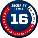 Level 16 | ABUS GLOBAL PROTECTION STANDARD ®  | Ein höherer Level entspricht mehr Sicherheit