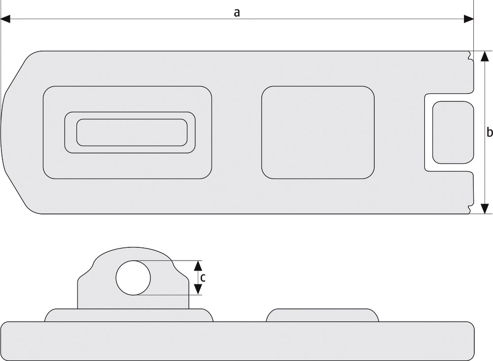 hasp  technical drawing