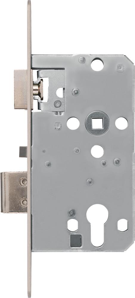 D55 Einsteck Schloß Zylinder PZ 72 Schloss DIN RECHTS Standard 20 Stulp silberf