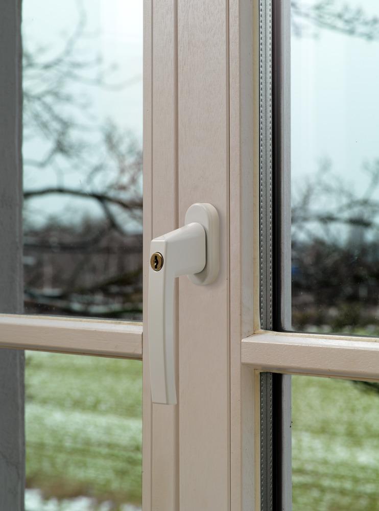 ABUS Poignée de fenêtre verrouillable sauvegarde cambriolage Protection Sécurité Enfant Argent