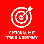 Optional mit Trainingsspray