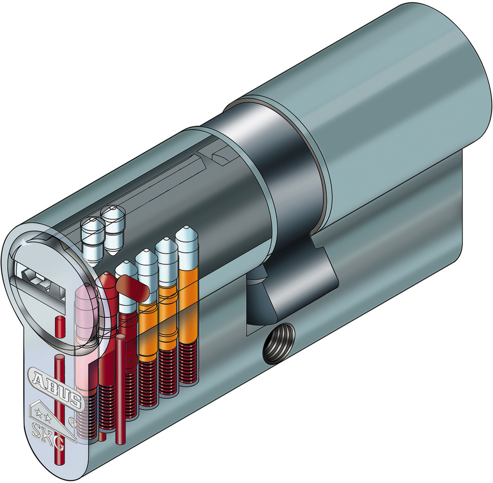 ABUS Schlie/ßzylinder Schlie/ßanlage als Knaufzylinder Zylinderschloss mit Knauf gleichschlie/ßend EC550 mit 3 Schl/üssel inkl ToniTec CodeCard Gr/ö/ße 35 30K mm Schlie/ßung 1