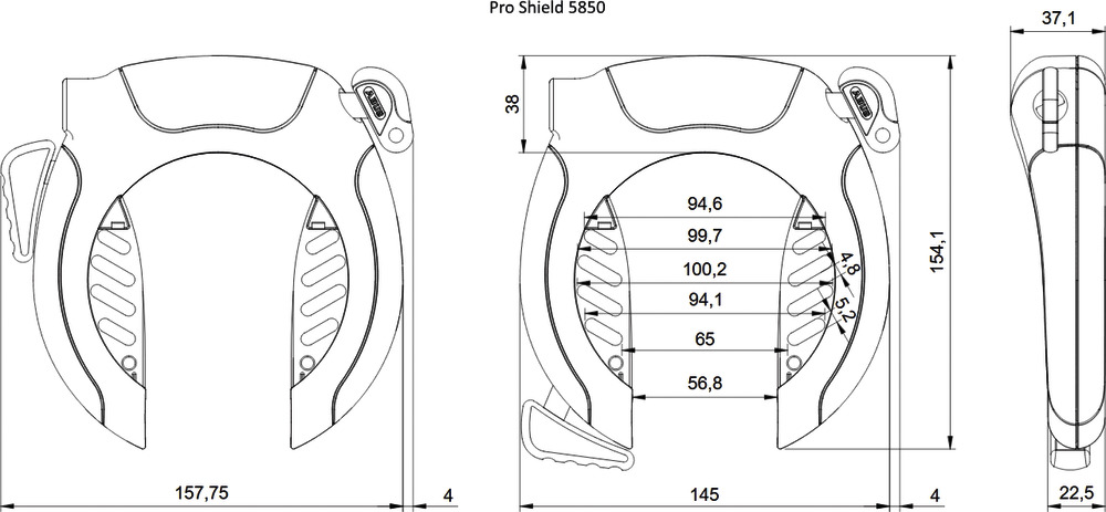 Technical drawing - PRO SHIELD™ 5850