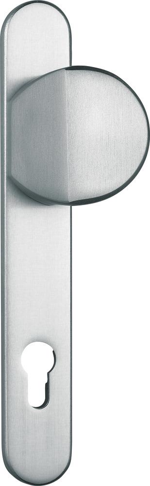 ABUS T/ür-Schutzbeschlag SRG92 W wei/ß mit beidseitigem Dr/ücker 22263