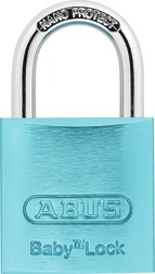 Padlock aluminium 645TI/30 Baby Lock light blue