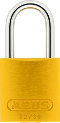 Padlock aluminum 72/30 color yellow