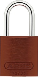 Padlock aluminum 72/30HB50 brown