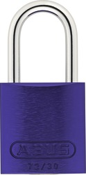 Padlock aluminum 72/30 color purple