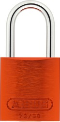 Padlock aluminum 72/30 color orange