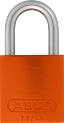 Padlock aluminium 72LL/40 orange