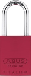 Padlock aluminum 83AL/40 red (without cylinder)