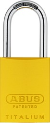 Padlock aluminium 83AL/40 yellow (without cylinder)