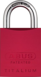 Padlock aluminum 83AL/45 S red (without cylinder)