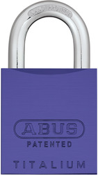 Padlock aluminum 83AL/45 S purple (without cylinder)