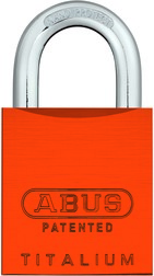 Padlock aluminium 83AL/45 S orange (without cylinder)