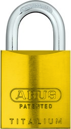 Padlock aluminum 83AL/45 S yellow (without cylinder)