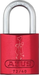 Aluminiumhänglås 72/40 red Love Lock 1