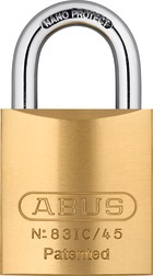Padlock brass 83IC/45 without cylinder