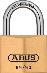 Padlock brass 85/50 with label