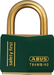 Padlock brass T84MB/40 green