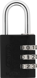 Combination Lock 145/30 black Lock-Tag