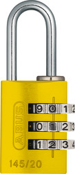 Combination Lock 145/20 yellow Lock-Tag