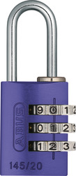 Combination Lock 145/20 purple Lock-Tag