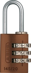 Combination Lock 145/20 brown