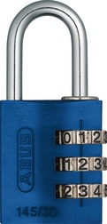 Combination Lock 145/30 blue Lock-Tag