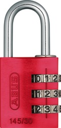 Combination Lock 145/30 red