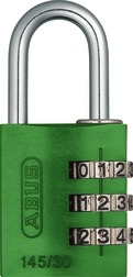 Combination Lock 145/30 green Lock-Tag
