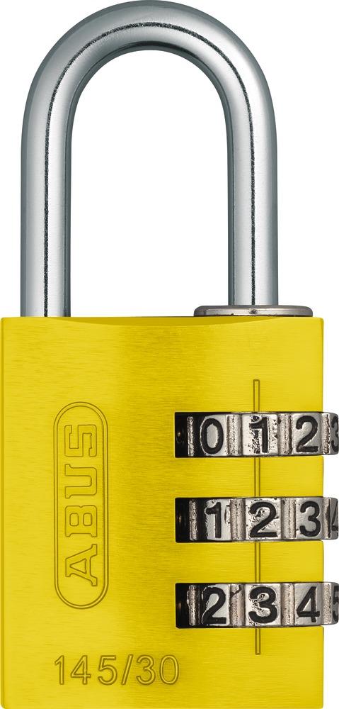 46622 ABUS Aluminium-Zahlenschloss 145//30 titanium