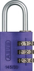 Combination Lock 145/30 purple Lock-Tag