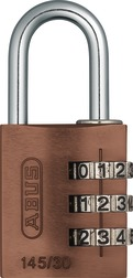 Combination Lock 145/30 brown
