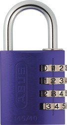 Combination Lock 145/40 purple Lock-Tag