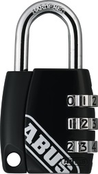 Combination Lock 155/30 black B/DFNLIESPP
