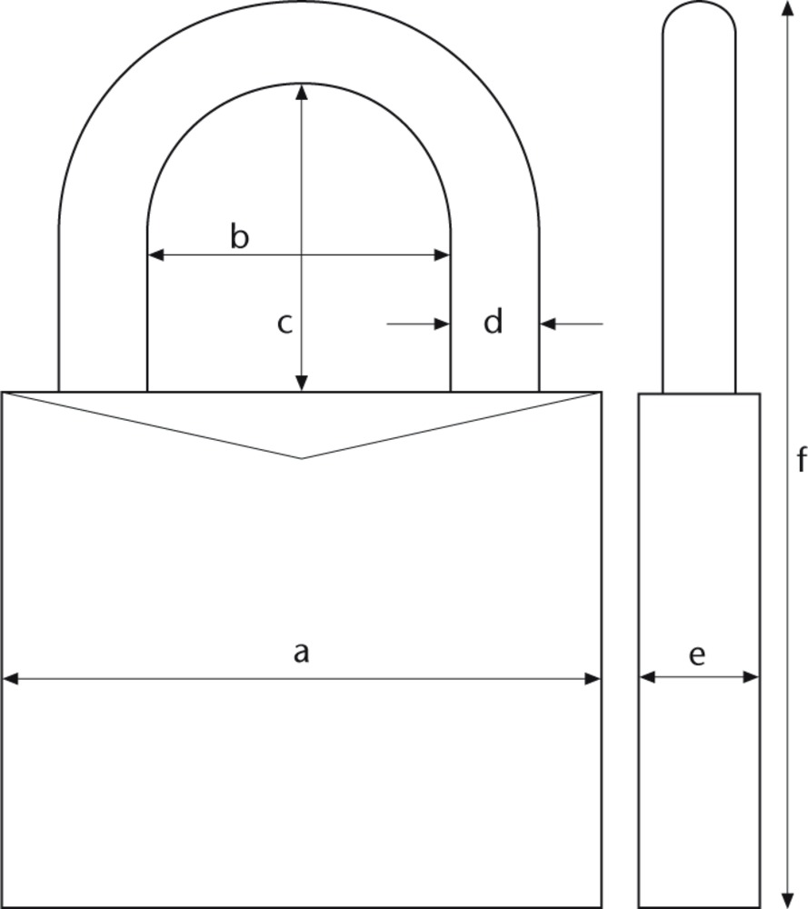 combination lock  technical drawing