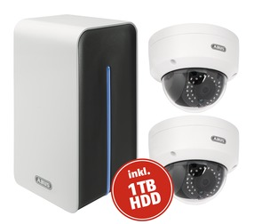 Video Surveillance Set: Network Wi-Fi digital recorder + 2 Wi-Fi outdoor dome cameras