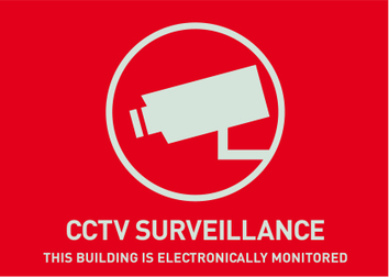 Warning Sticker CCTV Surveillance, (English) 148 x 105mm