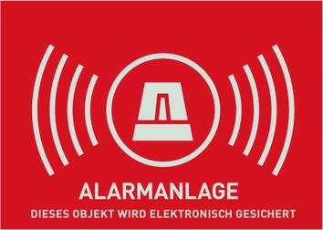 Warnaufkleber Alarm (ohne ABUS-Logo) 74 x 52,5 mm