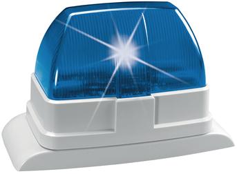 Draht-Blitzleuchte (blau)